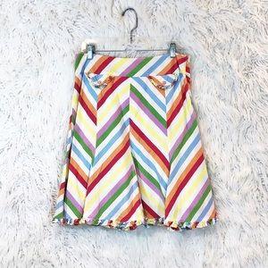 Anthropologie Odille rainbow a-line skirt